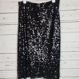 Pretty Guide Black Sequin Skirt Size XL